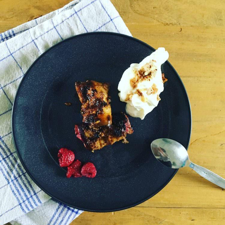 Aubergine dessert